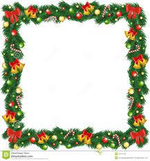 print christmas garland frame stock photography image 35411192