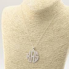 Monogram Necklace Silver Aliexpress Com Buy Wholesale Custom Block Monogram Necklace 3