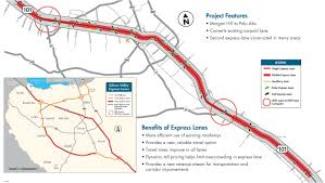 Caltrans District Map State Route 85 And Us 101 Express Lanes Projects