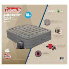 coleman guestrest double high airbed with external pump queen