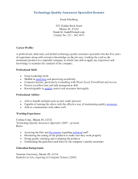 Resume Sample Quality Control by Quality Assurance Specialist Resume Sample Qa Specialist Resume