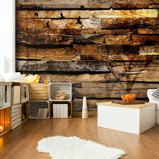 Schlafzimmer Braun Orange Vlies Fototapete Holzwand Braun Tapete Tapeten Schlafzimmer