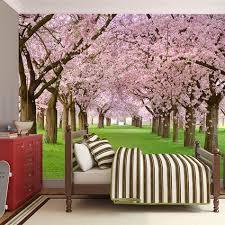 online buy wholesale cherry blossom 3d wallpaper from china cherry sakura cherry blossom floral wallpaper bathroom 3d wall mural rolls hotel bathroom livingroom restaurant cafe ktv