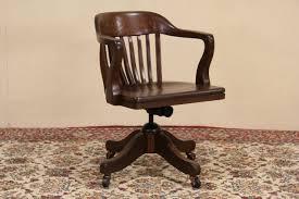 Antique Office Desk For Sale Sold Swivel Tilting Oak 1915 Antique Office Desk Chair Harp