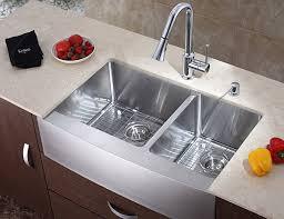 Chrome Kitchen Sink Furniture Interesting Sink With A Chrome Kitchen Faucet Kitchen