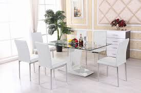 Glass Dining Table And 6 Chairs Dining Table Glass Top Dining Table Set 6 Chairs Rectangular