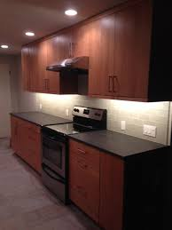 kitchen remodel fireclay silver haze subway backsplash absolute