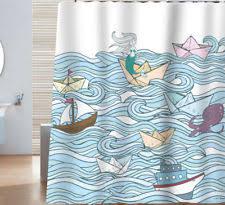 Vintage Mermaid Shower Curtain - beach island u0026 ocean shower curtains ebay