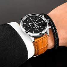 mens luxury bracelet images Men 39 s dress bracelet black silver double vincero watches jpg
