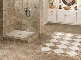 interior awesome bathing area design with grey floor tile