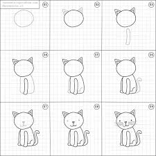 best 25 easy cat drawing ideas on pinterest kawaii cat cat