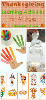 thanksgiving learning activities for all ages misshumblebee s