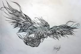 phoenix tattoo designs black and white pictures to pin on