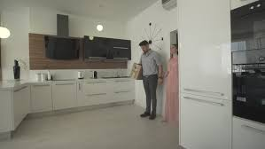 Interior Design Videos Happy Young Excited Couple Hugging Moving In New Modern Trendy