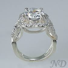 2 05ct flower diamond engagement ring hypoallergenic