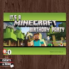 mine craft invitation template minecraft birthday invitations