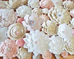 japanese wedding backdrop diy paper flower backdrop ivory grey white paper flowers