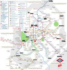 Madrid Map Madrid Map Map Of Metro U0026 Light Rail Network Red De Metro