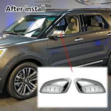 ford explorer mirror replacement chrome side view mirror cover replacement for 2011 2014 ford