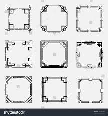 collection art deco borders frames style stock vector 708180100