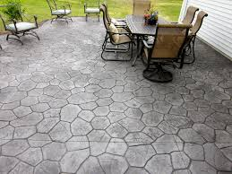 Seamless Stamped Concrete Pictures by Stamped Concrete Patio In Random Stone Pattern Colors Are Smoke