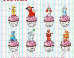 24 x transformers rice paper birthday cake toppers handmade robot cake topper etsy