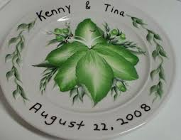painted wedding plates personalized personalized occasion plates aressa s weblog