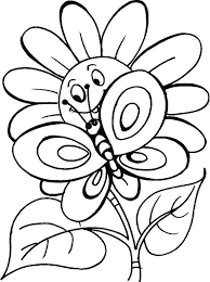download butterfly coloring pages flowers print butterfly