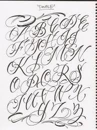 collection of 25 cursive lettering font designs