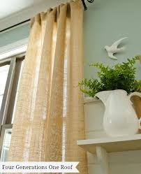 Sewing Drapery Panels Together How To Make Curtains Using Burlap Four Generations One Roof