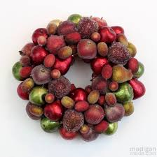 Fruit Decoration For Christmas by How To Make An Ornament Wreath