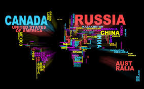 Accurate World Map by World Map In Words Interesting Pinterest