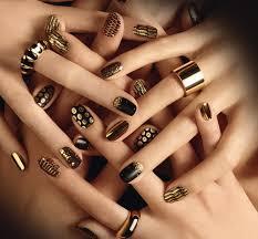 gold nails art images nail art designs