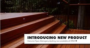 new genuine fijian mahogany decking at hpm