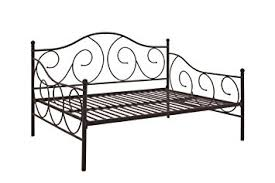 amazon com dhp victoria full size metal daybed bronze kitchen