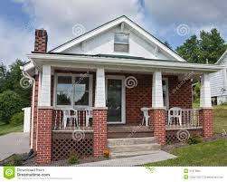 house with porch brick house with porch stock photo image 41972805