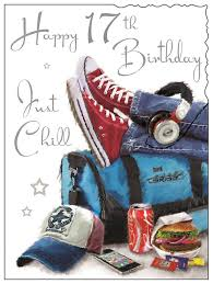 happy 17th birthday u2013 just chill u2013 card ebay