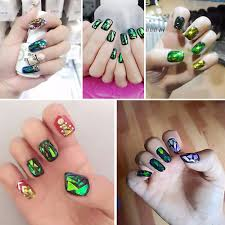 crazy neon punk nail art studs spike sugar skull stiletto nails