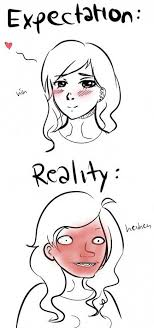 Blushing Meme - blushing expectation vs reality know your meme