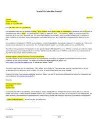 sample offer letter exempt date name