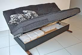 Futon Bed With Storage Futon With Storage Underneath Roselawnlutheran