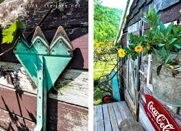 Rustic Garden Decor Ideas Creating Garden Art With Junkfunky Junk Interiors