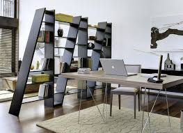 modern open bookcase serves as room divider unique room