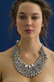 wedding dress necklace high glam statement bridal necklace with bling galore