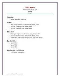 basic resume outline sample http www resumecareer info basic