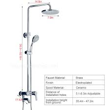 Shower Faucet Height Installation Automatic Return Brass Casting Shower Faucet Set