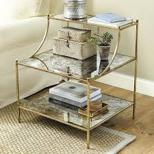 glass side tables for bedroom emeline side table work pinterest shelving arms and storage