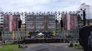 shine outdoor rental led display p8 928 nearly 500sqm in italy