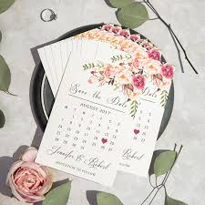 wedding save the date cards bohemian pink floral watercolor wedding save the date cards