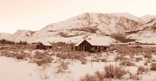 eastern sierra winter old homes free stock photo public domain